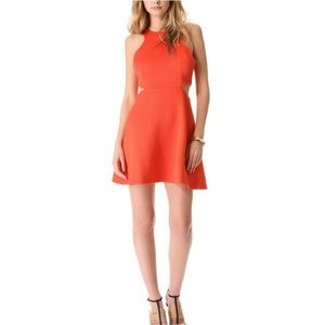 Club Monaco coral dress with cut outs
